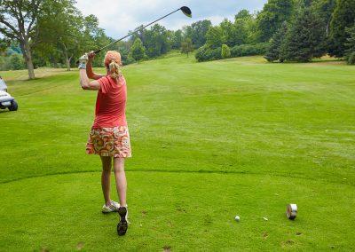 Golfing on the 3rd Hole at Cedar Springs