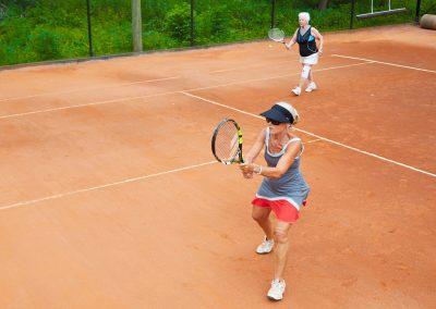 Doubles tennis at Cedar Springs
