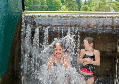 Having fun in the swimming area at Cedar Springs