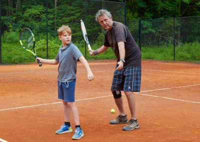 Learning to play tennis at Cedar Springs
