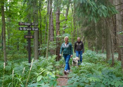 Walking the Heritage Trail within Cedar Springs