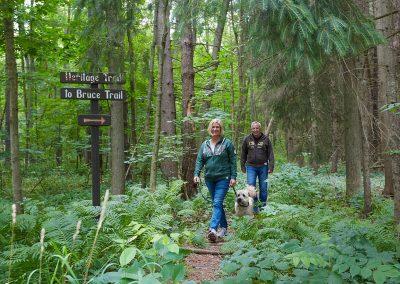 Walking the Heritage Trail within Cedar Springs