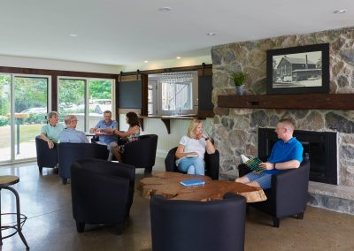 Relaxing in the Club House lounge at Cedar Springs